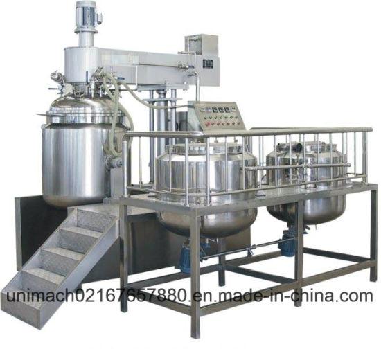 1000L/13000L/2000L Vacuum Emulsifier Mixer (hydraulic lifting)