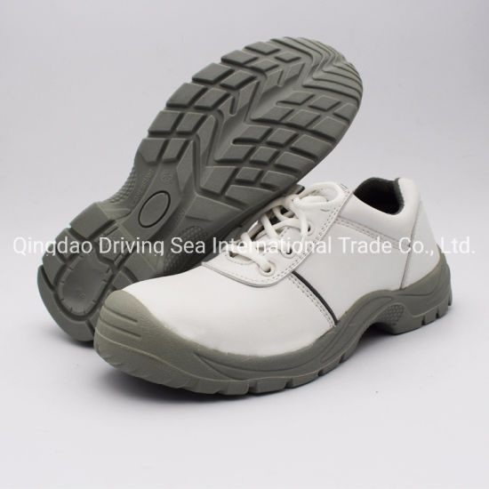 Industry Steel Toe PU Sole White Safety Shoes for Workers