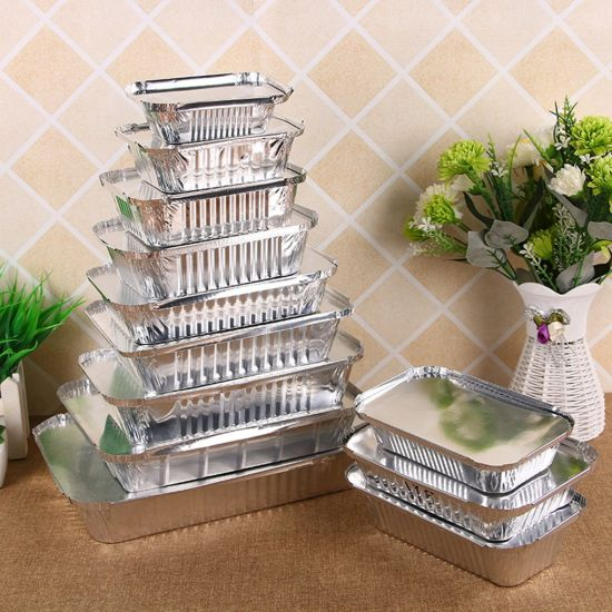 Disposable Aluminum Foil Pan Take-out Food Containers with Aluminum Lids/Without Lid pictures & photos