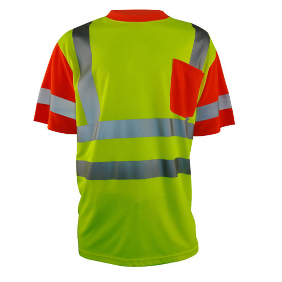 Hi Vis Cheap 100% Polyester Reflective Safety T-Shirt High Visibility T-Shirt