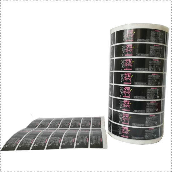 PVC Adhesive Black Sticker Food Category Labels