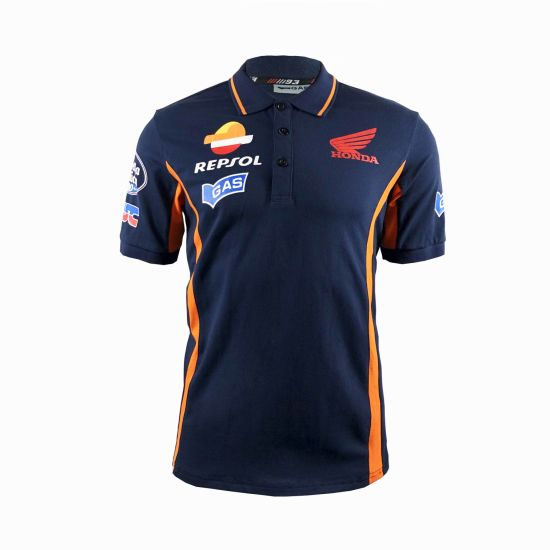 China Rancing Sports Uniform Wholesale Polyester Dry Fit Polo Shirt Supplier