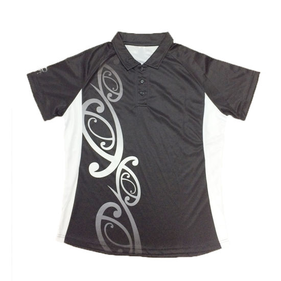 Custom OEM Short Sleeve Moisture Wicking All Over Printing Sublimation Running Polo Shirts