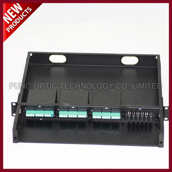 144F Fiber Optical MPO MTP 1U 19 Inch Patch Panel pictures & photos
