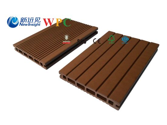 146*23mm Wood Plastic Composite Decking with CE, Fsg SGS, Certificate