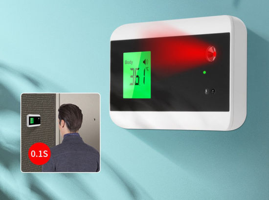 New Outdoor Wall Mounted Mount Intelligent Non-Contact Doorbell Temperature Body Measurement System Digital Infrared Thermometer, High Temperature Alarm