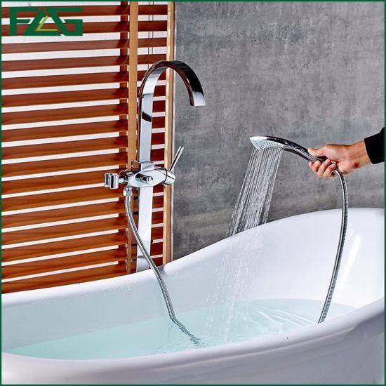 Flg Floor Standing Bathroom Faucet