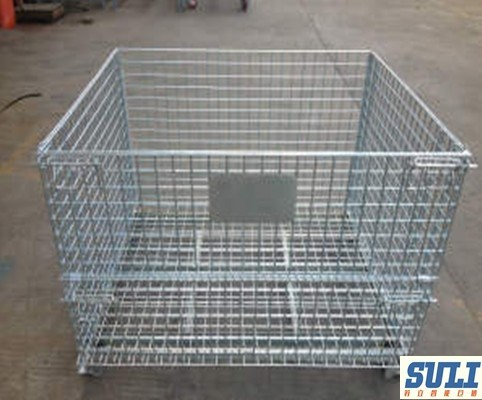 Collapsible & Stackable Wire Mesh Containers