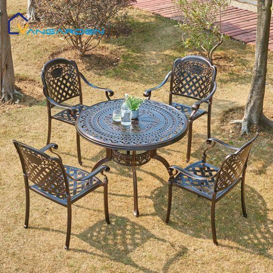 Cast Aluminum Outdoor Furniture Garden, Aluminum Patio Furniture