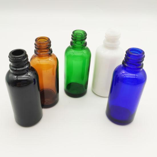 Support OEM Custom Amber Black White 50ml Glass Bottle