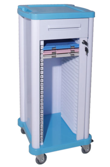 Factory Direct Price OEM ODM Hospital Medical ABS Patient File Chart Holder Trolley Case Historical Record Trolley/Cart