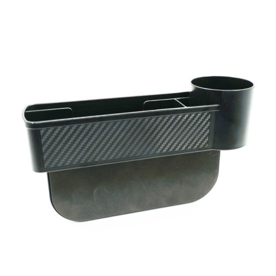 Car Seat Gap Filler Console Side Pocket Car Seat Catcher Car Organizer Black