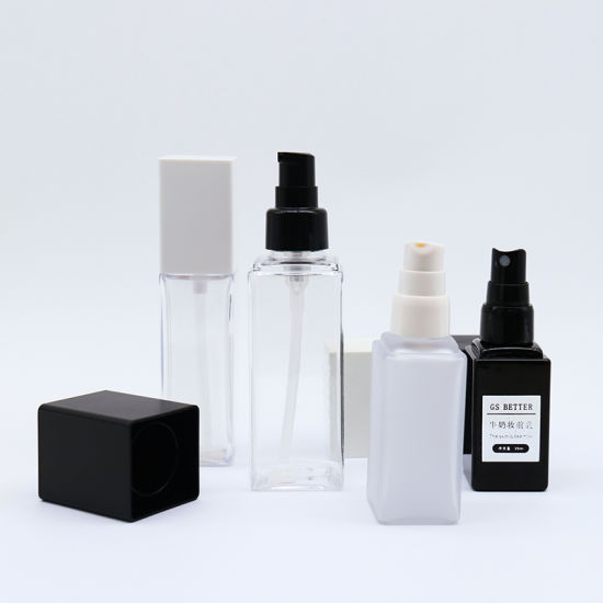 Best Price Heavy Wall Square Pet Plastic Lotion Spray Bottle 30ml
