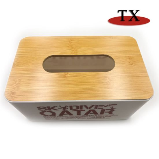 Creative Printed White Table Wood and Plastic Tissue Box pictures & photos