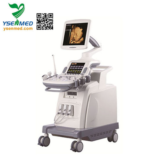 Ysb8000p Hospital Mobile Advanced 4D Touch Screen Color Doppler Ultrasound Scanner pictures & photos