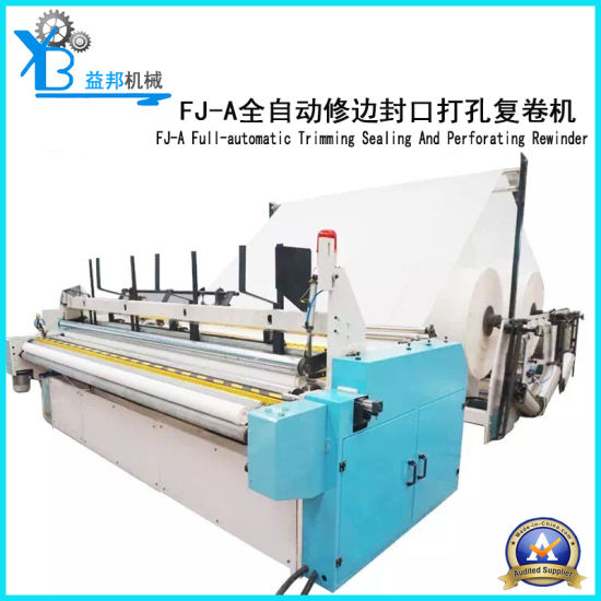 Automatic Trimming Sealing and Perforating Roll Paper Rewinder Machine pictures & photos