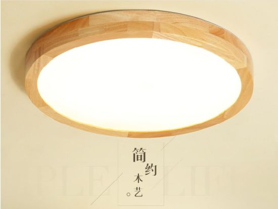 Wooden Frame Round Led Ceiling Lamp China Factory Supplier