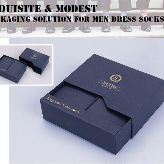 china sinicline high quality gold foil logo men s sock packaging