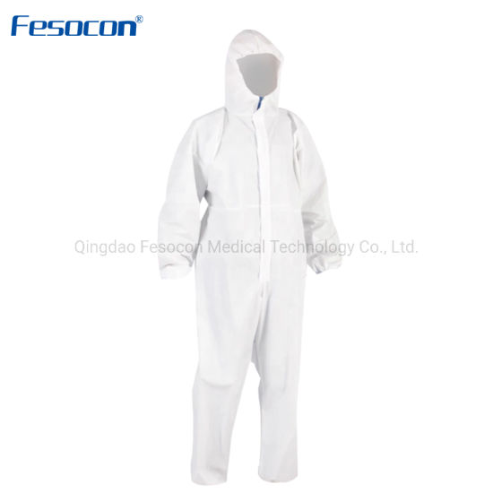 Manufacturer PP PE SMS Coverall Full-Body Safety Isolation Personal Protection Clothing Disposable Workwear