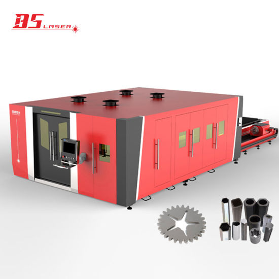 Industrial 4m Pallet Changer Full Cover CNC Laser Cutting Machine with Pipe Device