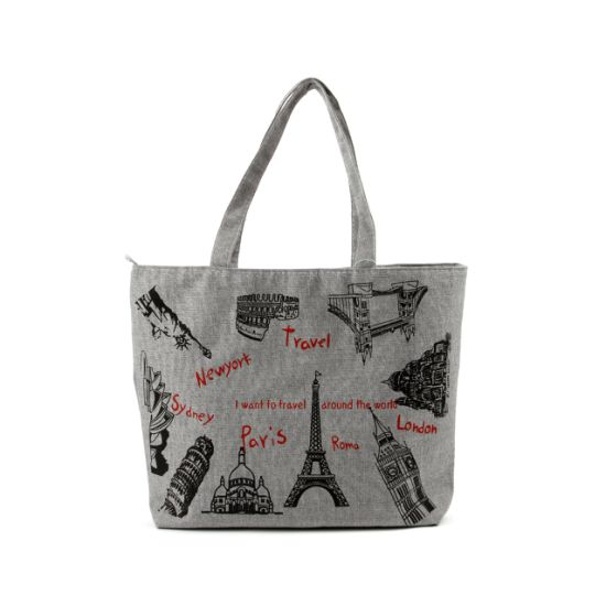 Promotional Custom Printed Colorful Cotton Market Shopping Bag Manufactory