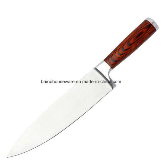 Stainless Steel Pakka Handle High Quality Kitchen Knives pictures & photos