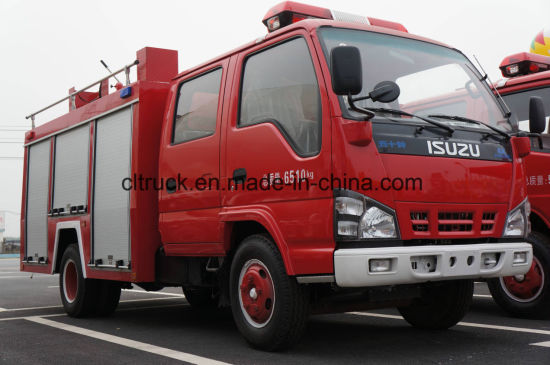 4*2 Isuzu Dongfeng 5cbm 6cbm 8cbm Water Tank Foam Fire Truck pictures & photos