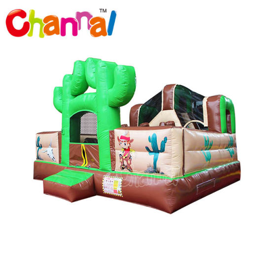 Little Cowboy Inflatable Combo Castle Inflatable Jumping Bouncer