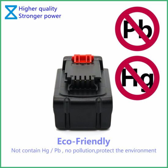 High Quality Factory Customize 18V/20V 5ah Power Tools Replacement Battery  for Black&Decker Power Tools