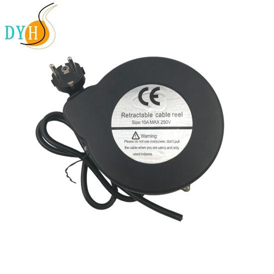 Cord Retractor with EU Schuko Plug