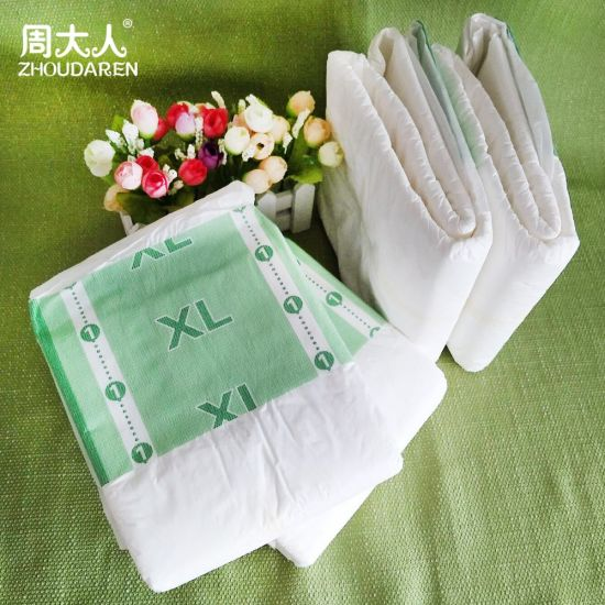 Disposable Adult Diaper Manufacturer for Elderly People Cheap Price Free Sample Print PE Back Sheet in China