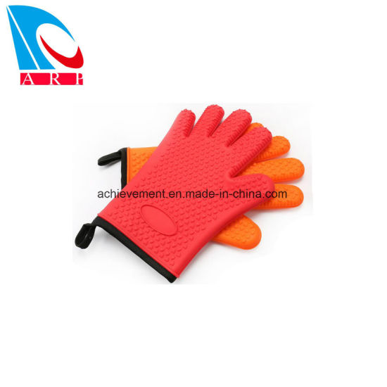 Silicone Kitchen Gloves Fabric Lining Inner Cotton Layer For Cooking Baking Bbq Grilling Heat Resistant