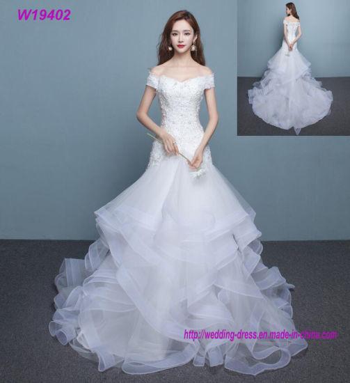 New Model Mermaid Wedding Gown Beading Lace Wedding Dress