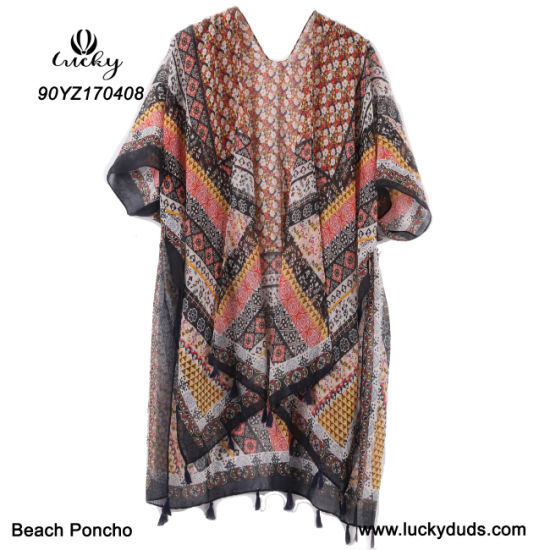 New Design Fashion Poncho Beach Shawl