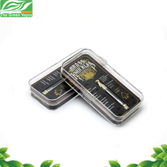 0.5ml/1.0ml Dual Cotton Coils Golden Color Cbd Vape Cartridge Brass Knuckles Cartridge pictures & photos