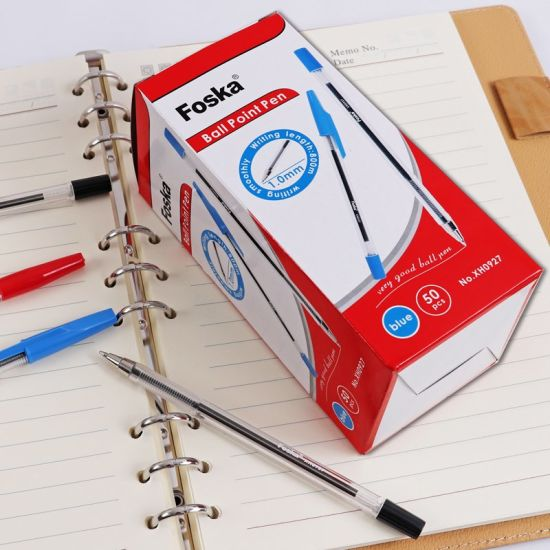 0.7mm Foska Cheap Ball Pen with 4 Color pictures & photos