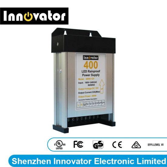 DC12V 400W LED Rainproof Power Supply for Outdoors LED Light