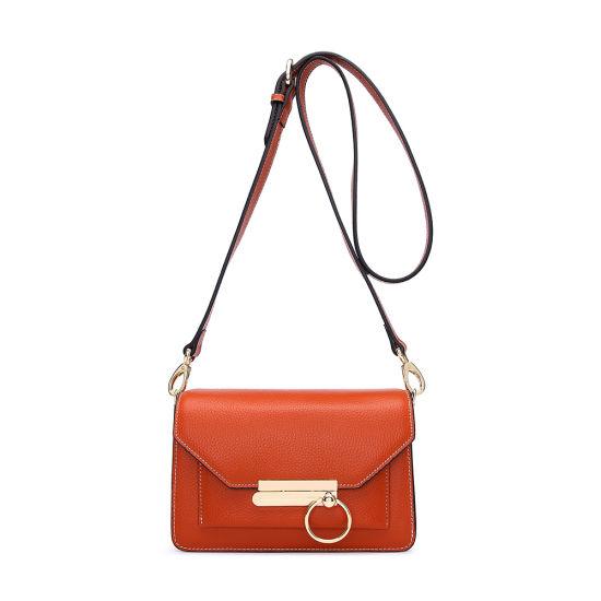 Latest Design Genuine Full Grain Cow Leather Women Shoulder Hand Bag