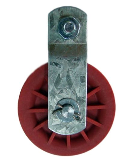 """2.5"""" Plastic/Nylon Rope Pulleys /Poultry Equipment Parts"""