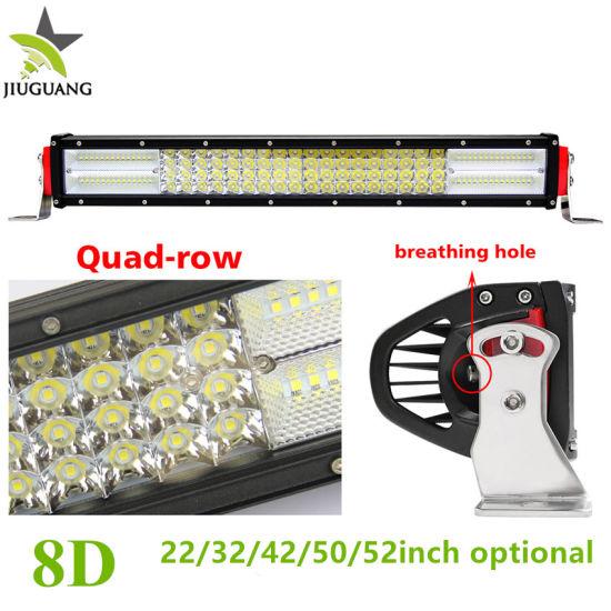 Wholesale 384W 12V 24V 4 Row 22inch Jeep Truck Car Offroad LED Light Bar