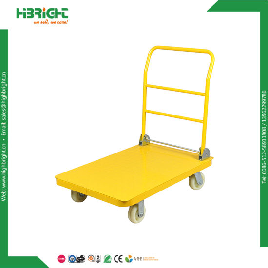Warehouse Carry Flatbed Platform Loading Trolley pictures & photos