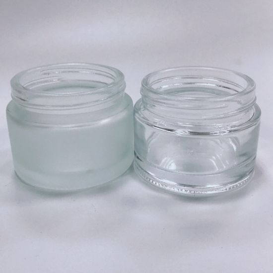 50g Frosted Glass Cosmetic Bottle and Cream Jar for Skin Care