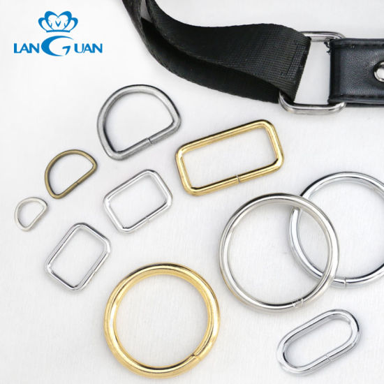 Metal Wire Buckle Bag Accessories D Ring O Ring Bag Ring for Adjustment