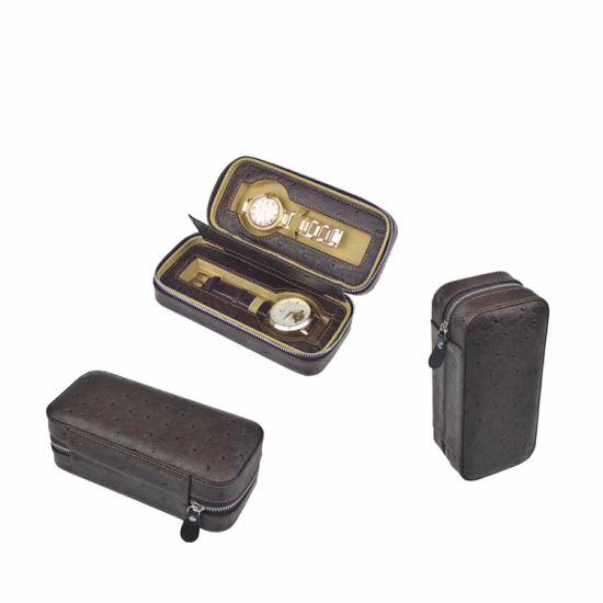 Leather Long Watch Box Watch Collector Box (8237)