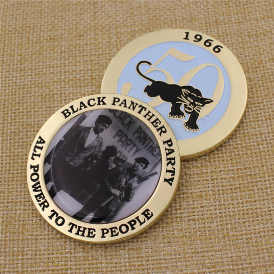 Custom Metal Black Panther Party Challenge Coin /Souvenir Coin