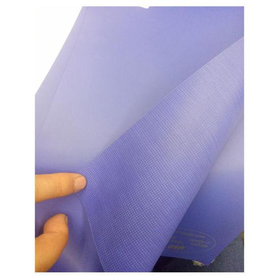 China Blue 700GSM Curtain Door Fabric Rolls Vinyl Fabric Tarpaulin