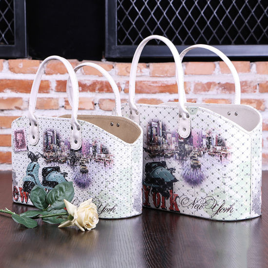 PU Leather Handle Hand Basket Fashion Customize pictures & photos
