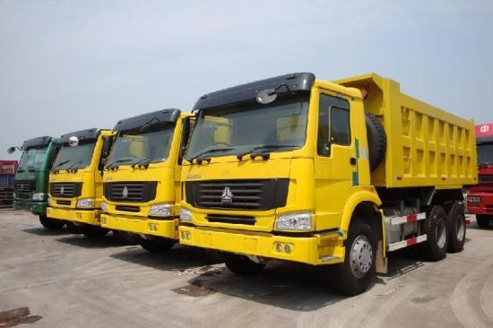 The Cheapest Price HOWO Dump Truck Tipper Truck 10 Tyres 6*4 336HP for Africa pictures & photos