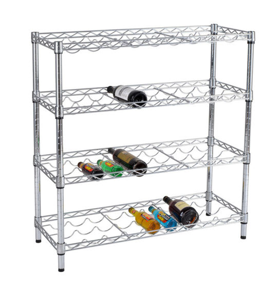 SGS Approval 4 Layers Wine Rack Shelving