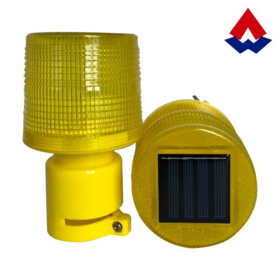 Solar Road Safety Warning Lamp Strobe Light LED Beacon Light